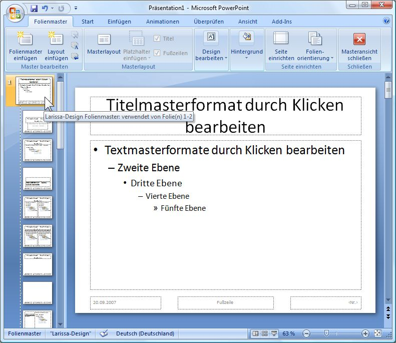 design powerpoint 2007