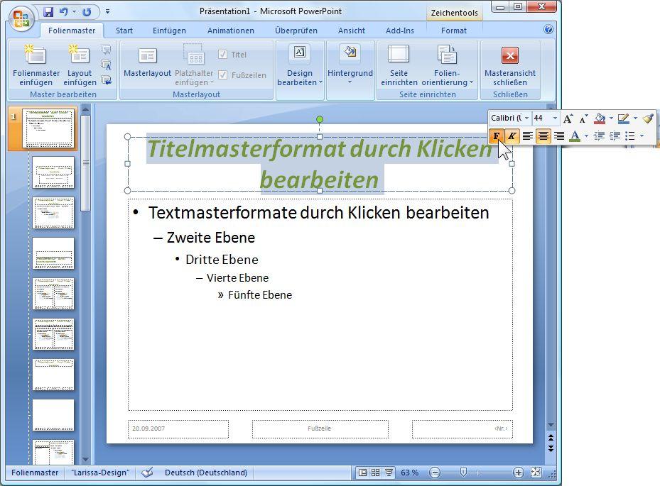 PowerPoint Folienmaster, Corporate Identity und Design ...