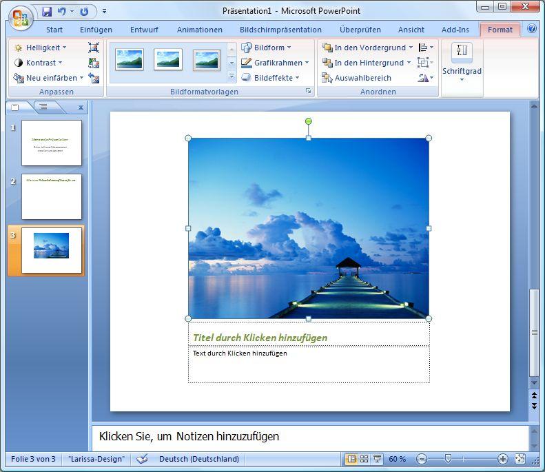 bild bernehmen - Powerpoint Prasentation Beispiele