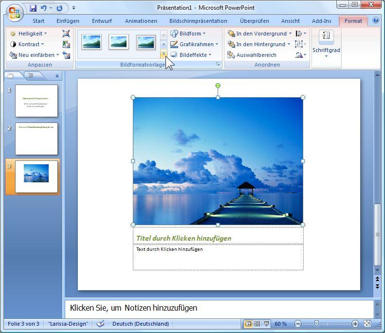 Bilder In PowerPoint Präsentationen Integrieren Und