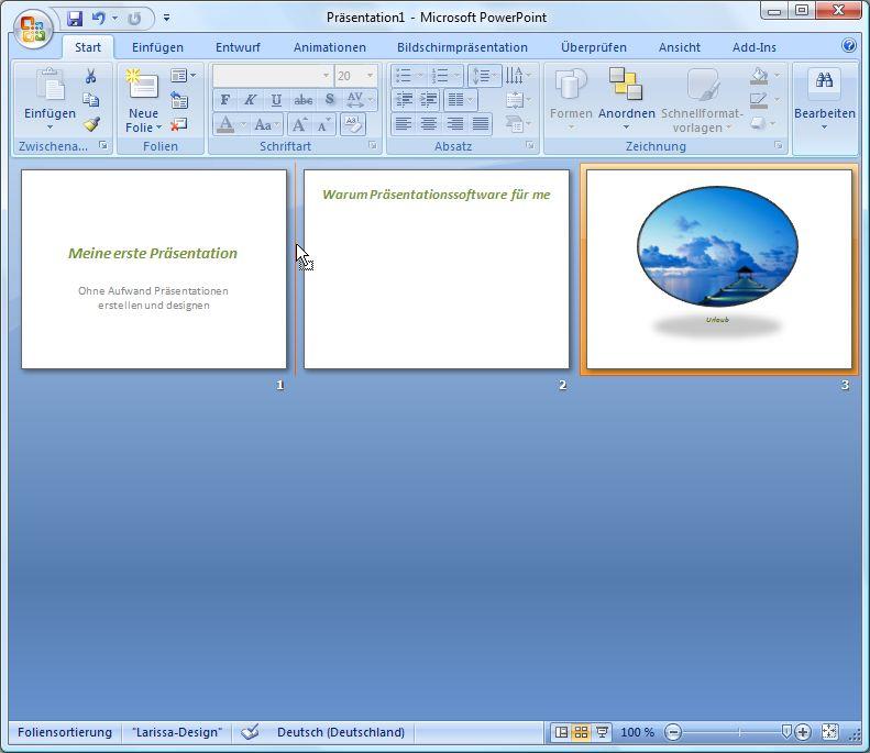 Umsortieren von Folien in PowerPoint, Spannungsbogen aufbauen