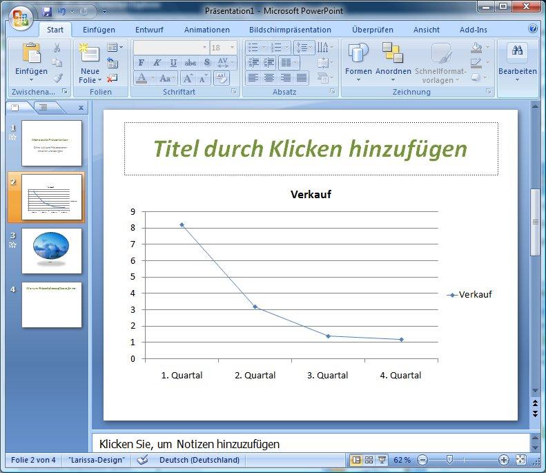 Diagramm in PowerPoint erstellen und aus Zahlen Grafiken erstellen