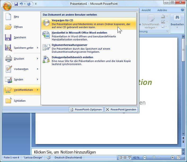 Präsentation 2 go, wie man mit PowerPoint-Präsentationen verreist