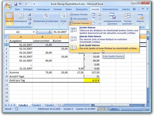 Excel zeile fixieren : Neem haarwasser gegen läuse