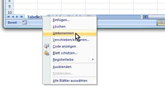 bei Excel mehrere Tabellenblätter nutzen für mehr Übersicht