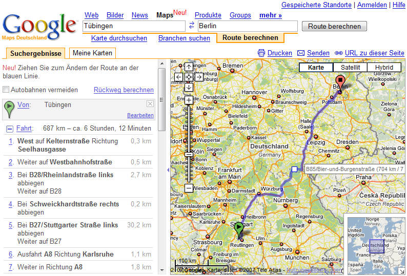 weitere google dienste bersetzungen google auf pda google maps. Black Bedroom Furniture Sets. Home Design Ideas