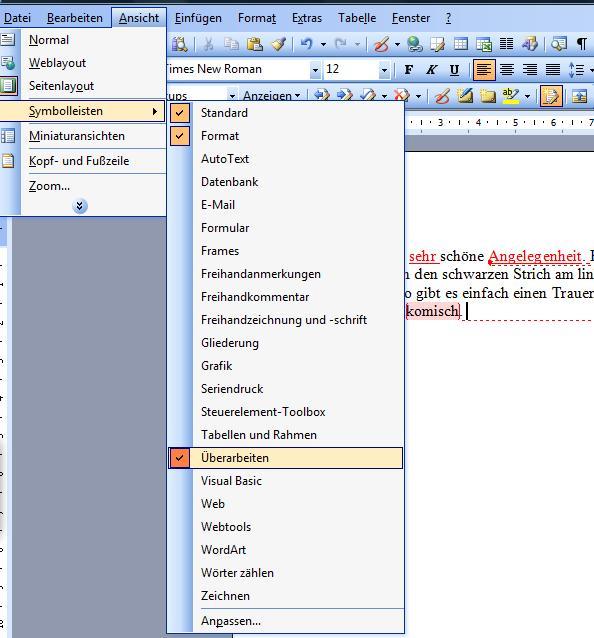 Korrekturen und Änderungen verfolgen in Word 2007 und Ältere