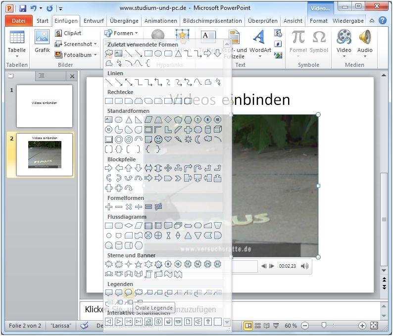 Videos Einfugen In Powerpoint 2010