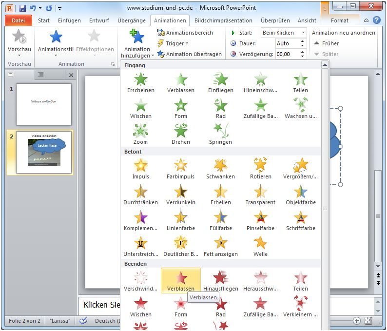 how to download animation in powerpoint 2010