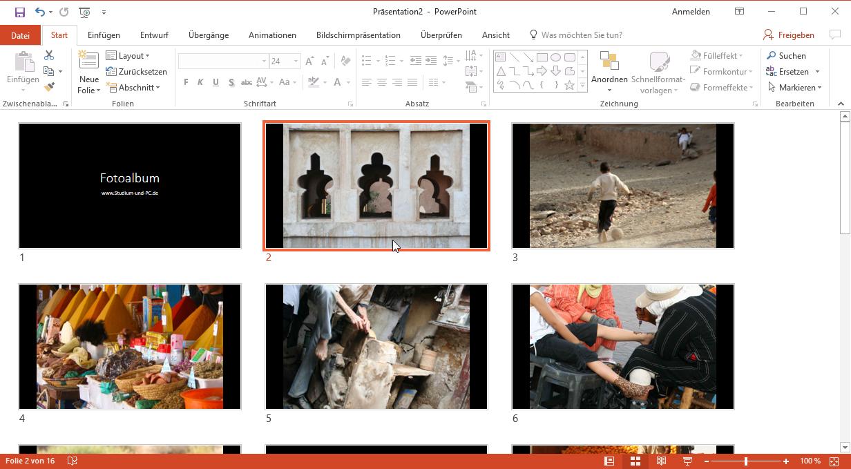 Fotoalbum in 5 Klicks mit PowerPoint erstellen