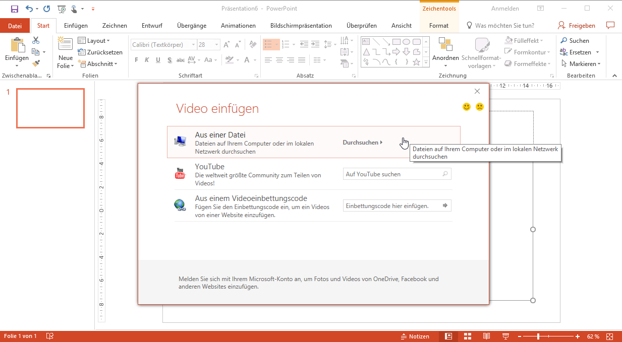Video einbinden in PowerPoint-Folien