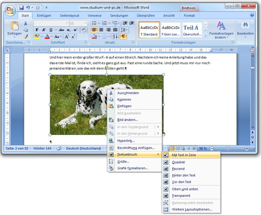 Hintergrund in word einfugen 2007
