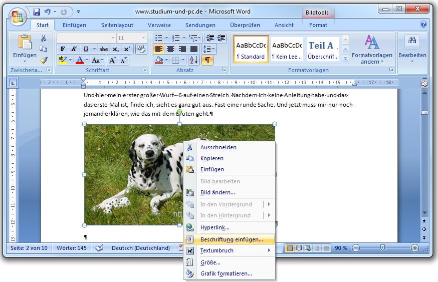 abbildungen beschriften f r abbildungsverzeichnis in word 2007