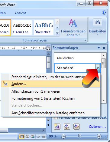 Word 2007 formatvorlage erstellen hausarbeit hu berlin