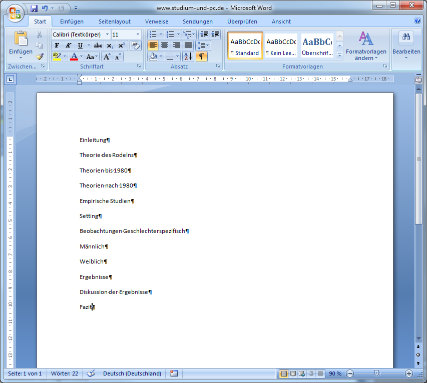 word layout