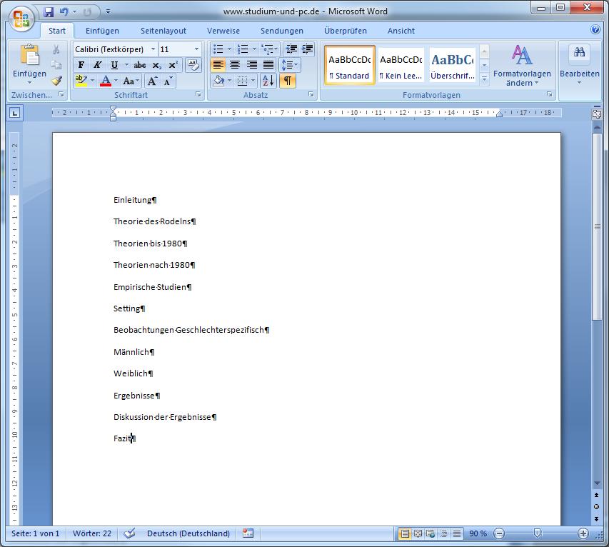formatvorlagen in word f r inhaltsverzeichnis design und