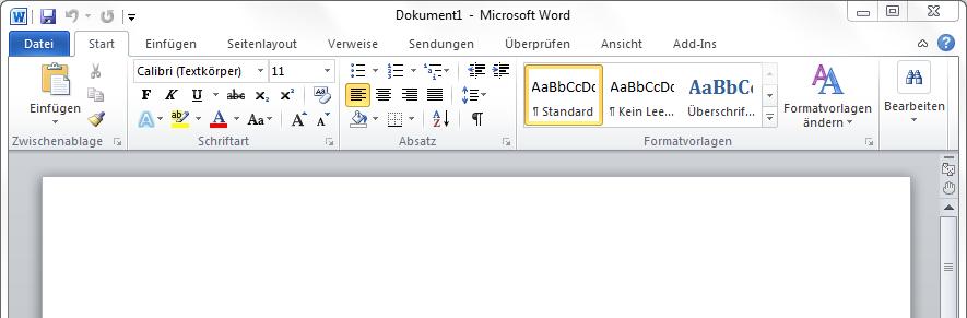 Briefe Und Sendungen Word 2010 : Word formatvorlagen