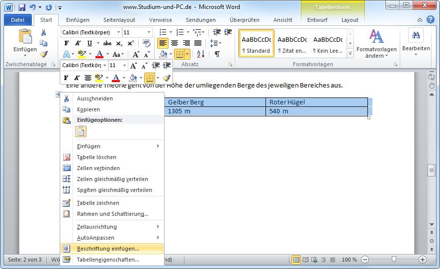 Word tabellen beschriften anmeldung masterarbeit bwl uni hamburg