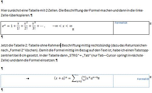 Formelverzeichnis beispiel deutsch aufsatz einleitung